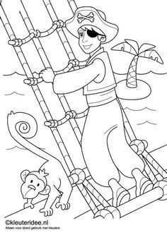 Piratenboot 3 D Kleurplaat Google Zoeken Piraten Piraten Kinderfeest Piraat Activiteiten
