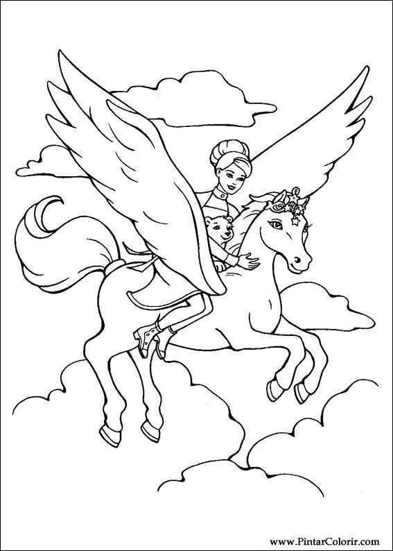 Kleurplaat Pegasus Google Zoeken Unicorn Coloring Pages Horse Coloring Pages Princess Coloring Pages
