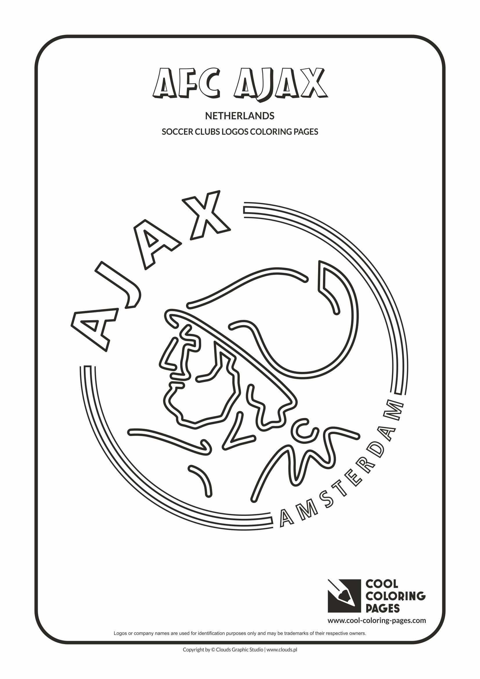Afc Ajax Amsterdam Logo Coloring Page Cool Coloring Pages Coloring Pages Logos