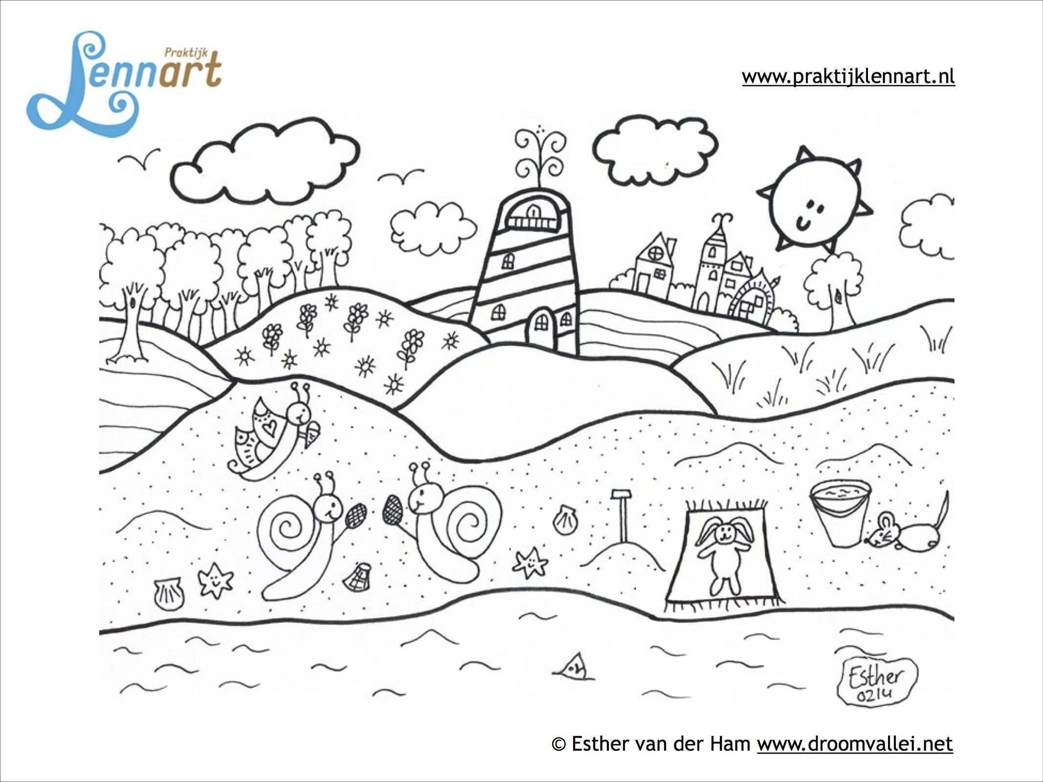 De Kleurplaat Van De Praktijk Zon Zee Strand Water Aarde En Lucht Alle Dingen Die Wij Nodig Hebben Om Te Kunnen Over Leven La Kleurplaten Kleuren Lucht