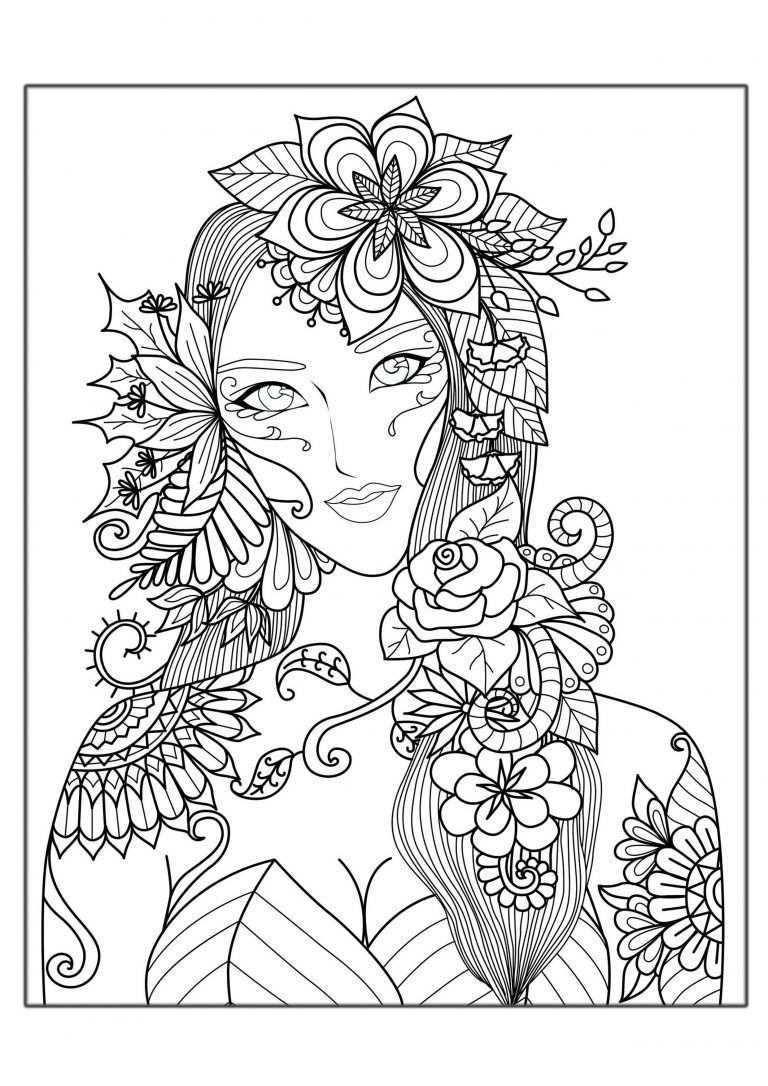 Hard Coloring Pages For Adults Best Coloring Pages For Kids Kleurplaten Kleurboek Fee Kleurplaten
