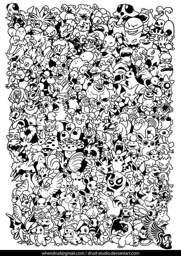 All Pokemon Characters By Drud Pokemon Coloring Pages Pokemon Coloring Sheets Pokemon Coloring