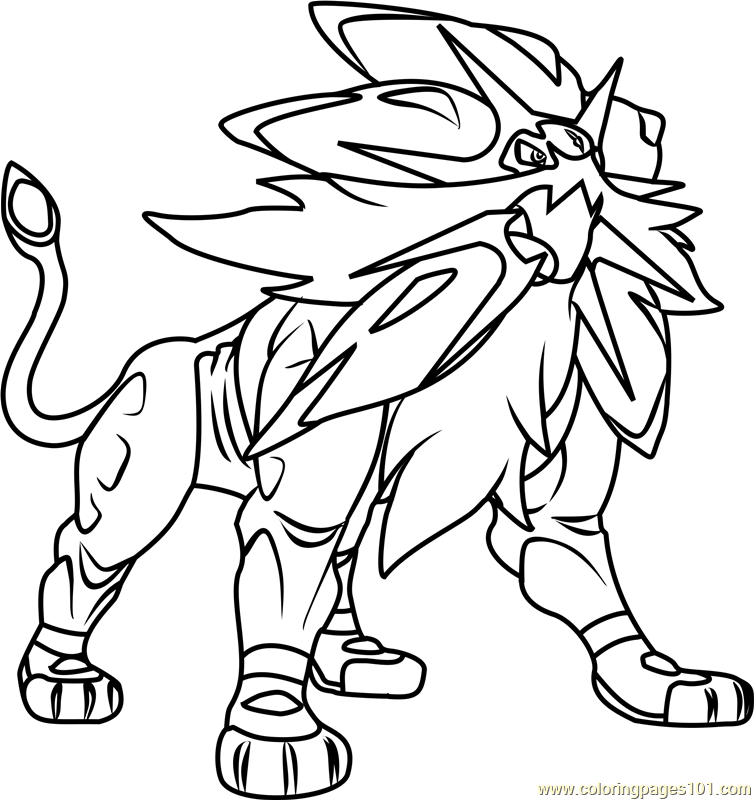 Solgaleo Pokemon Sun And Moon Coloring Page Moon Coloring Pages Pokemon Coloring Pages Pokemon Coloring
