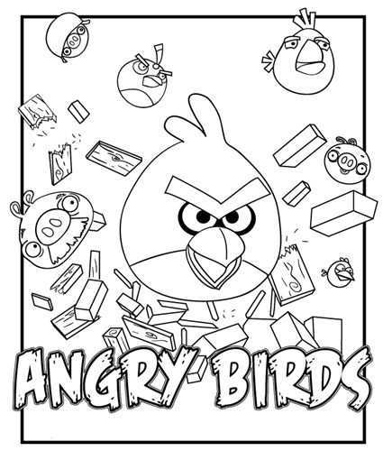 Angry Birds Coloring Pages Bird Coloring Pages Angry Birds Printable Coloring Pages