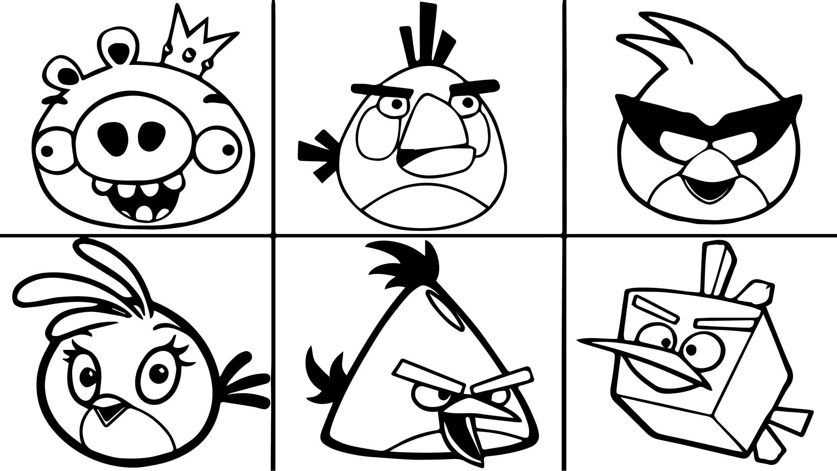 Nice Six Angry Birds Coloring Page Bird Coloring Pages Coloring Pages Coloring Pages Inspirational