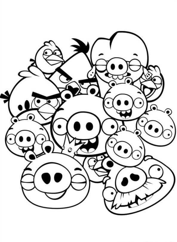 Angry Birds Kleurplaten Kleurboek Prinses Kleurplaatjes