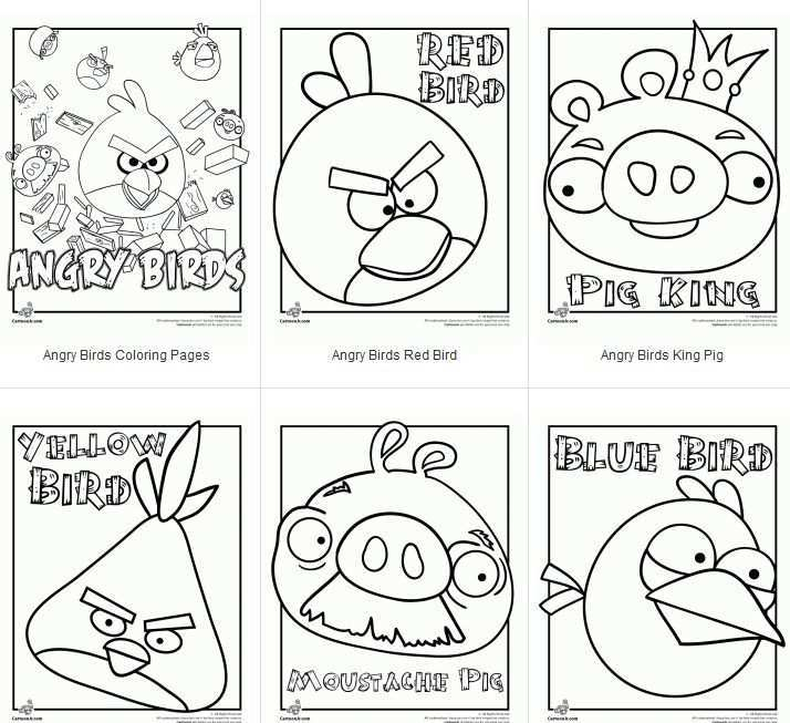 Pin By Banu Aksar Gul On School Bird Coloring Pages Angry Birds Party Angry Birds