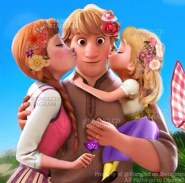 Anna Kristoff And Their Daughter This Is Soooo Cute Disney Swag Disney Princess Wallpaper Disney Princess Pictures