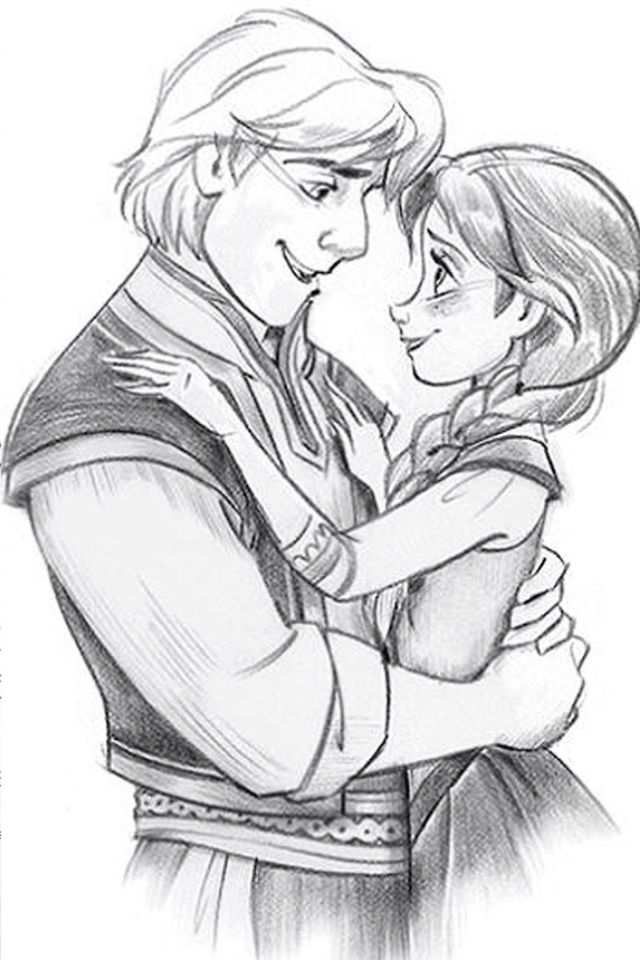 Frozen Kristoff And Anna Disney Sketches Disney Drawings Disney Couples