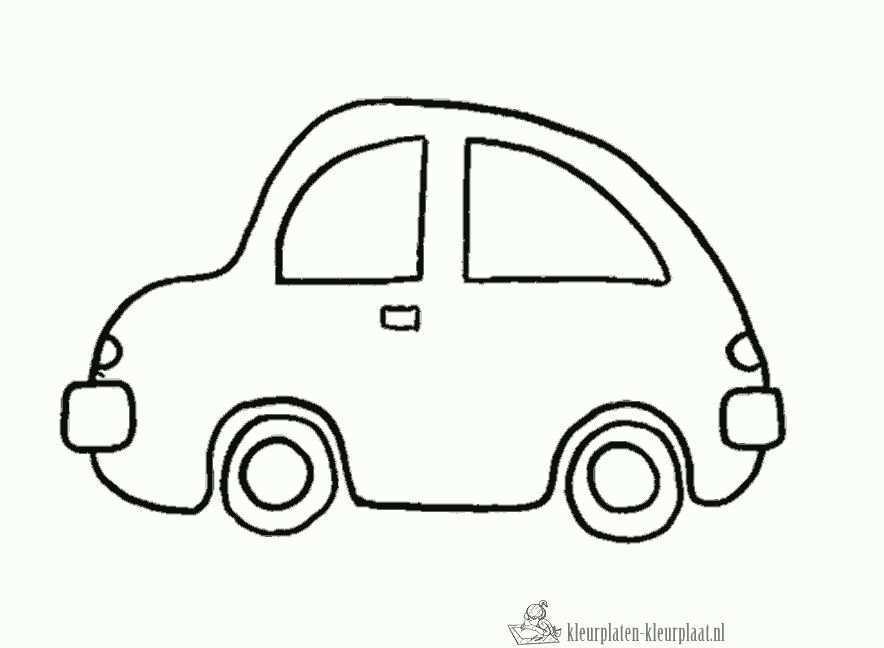 Kleurplaat Auto Peuter Auto Auto Tekeningen Vervoer Knutselen