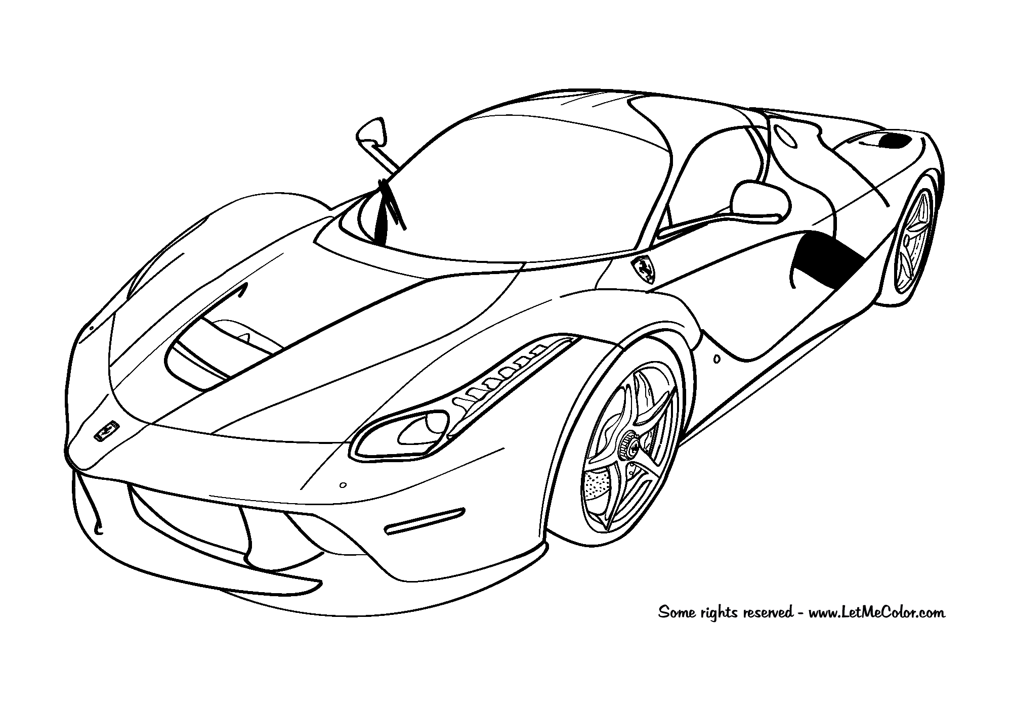 Cars Coloring Page Ferrari Laferrari Cars Coloring Pages Car Colors Race Car Coloring