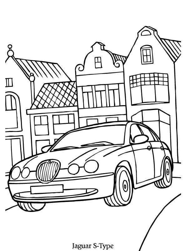 Print Jaguar S Kleurplaat Kleurplaten Automerk Potlood Schetsen