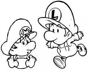 Pin De Annette En Kleurplaten Mario Bros Para Colorear Luigi Bros Moldes Para Baby Shower