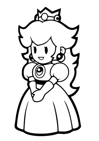 Image Associee Super Mario Coloring Pages Mario Coloring Pages Princess Coloring