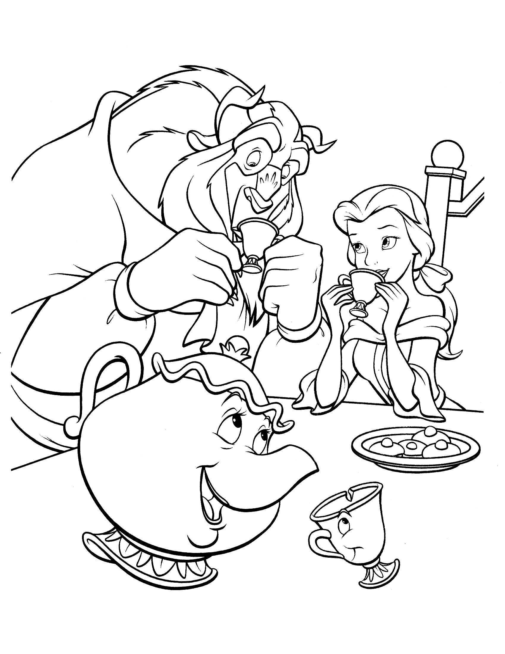 Beauty And The Beast Coloring Page Disney Coloring Pages Belle Coloring Pages Disney Princess Coloring Pages