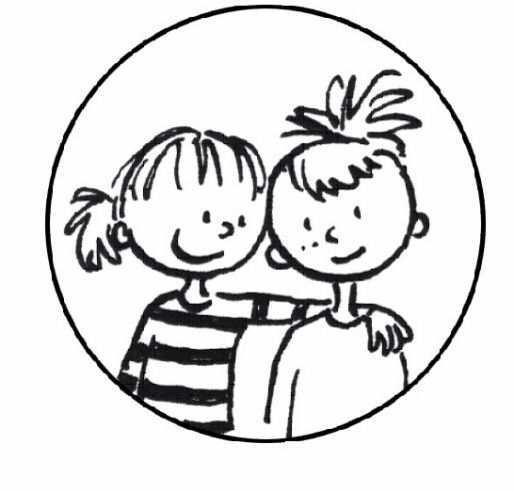 Kleurplaat Vriendschap Thema Vriendschap Boekenweek