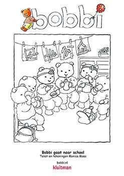 Kleurplaten Bobbi Gaat Naar School Kleurplaten Kinderknutsels Kleuren