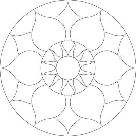 Chakra Mosaic Pattern By Brett Campbell Mosaics535 X 535 30 7kb Www Mosaics Com Au Mozaiekpatronen Mandala Kleurplaten Mozaiek Ideeen