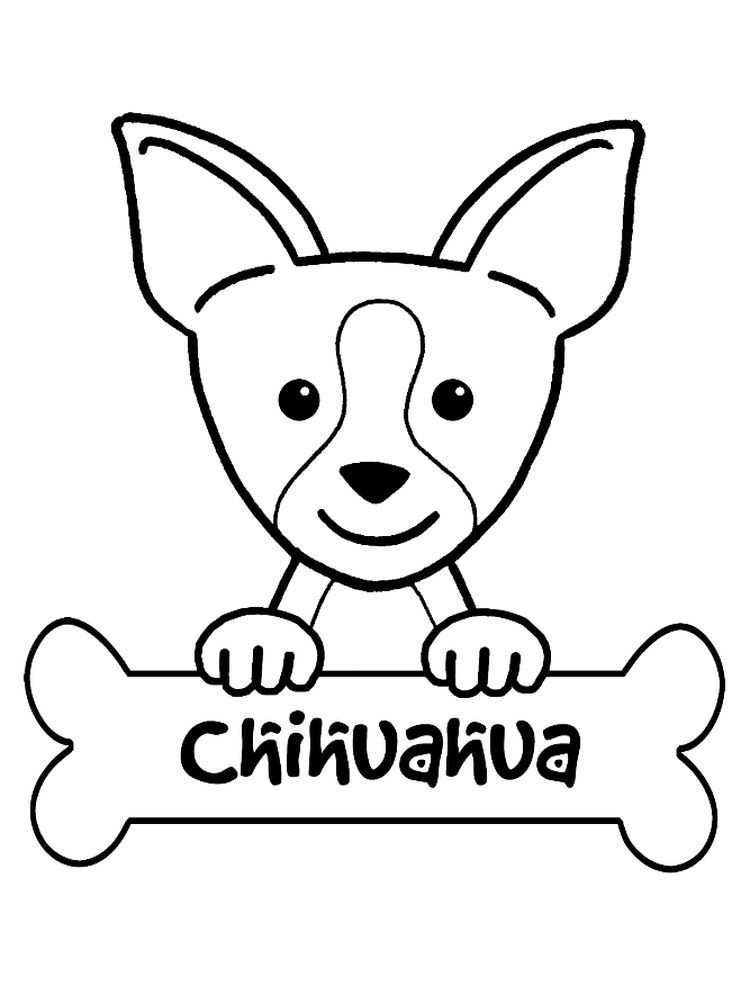 Free Printable Chihuahua Coloring Pages Chihuahuas Are Small Dogs Aka Tiny Toy Sizes Having A Body Puppy Coloring Pages Animal Coloring Pages Coloring Pages