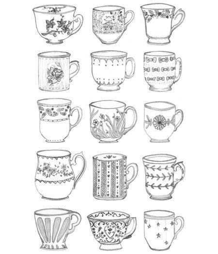 Items Similar To Teacup Collection Print On Etsy Doodles Sketch Book Tea Cups
