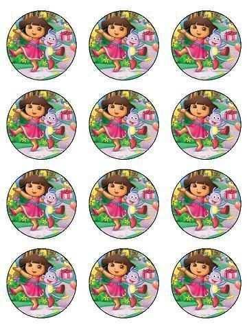 12 Dora Birthday Edible Icing Cupcake Cup Cake Decoration Cake Image Toppers Dora A Aventureira Ideias De Festa De Aniversario Festa Dora Aventureira