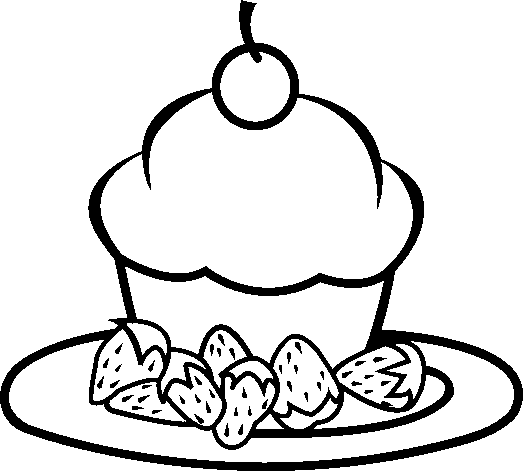 A Peace Of Strowberry Cake Yummy Coloring Pages Cookie Coloring Pages Kidsdrawing Free Coloring Pages On Hamburguesas Dibujos Dibujos De Cupcakes Dibujos