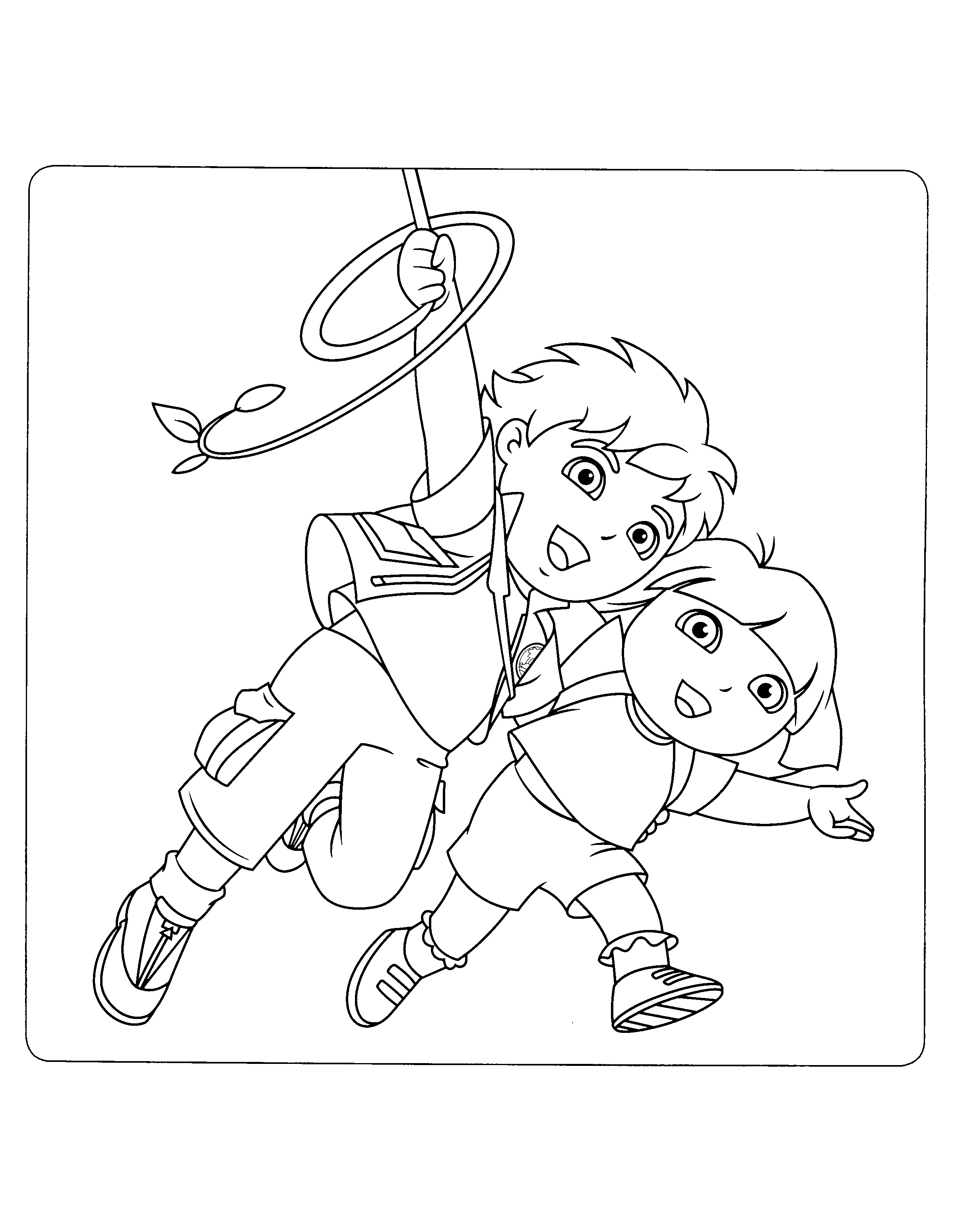 Go Diego Go 01 14 Png 2400 3100 Colouring Pages Niece And Nephew Go Diego Go