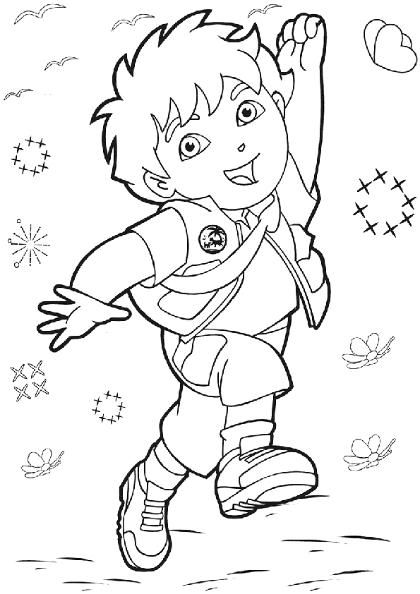 Free Printable Diego Coloring Pages For Kids Cartoon Coloring Pages Coloring Books Halloween Coloring Pages