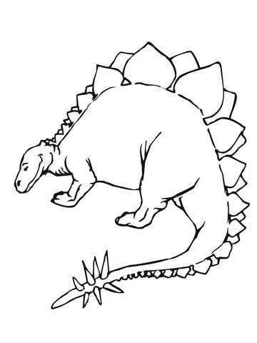 Stegosaurus Jurassic Dinosaurus Kleurplaat Dieren Kleurplaten Dinosaurus Kleurplaten