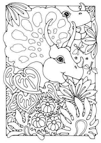 Coloring Page Dinosaurs Img 18439 Dieren Kleurplaten Kleurplaten Gratis Kleurplaten