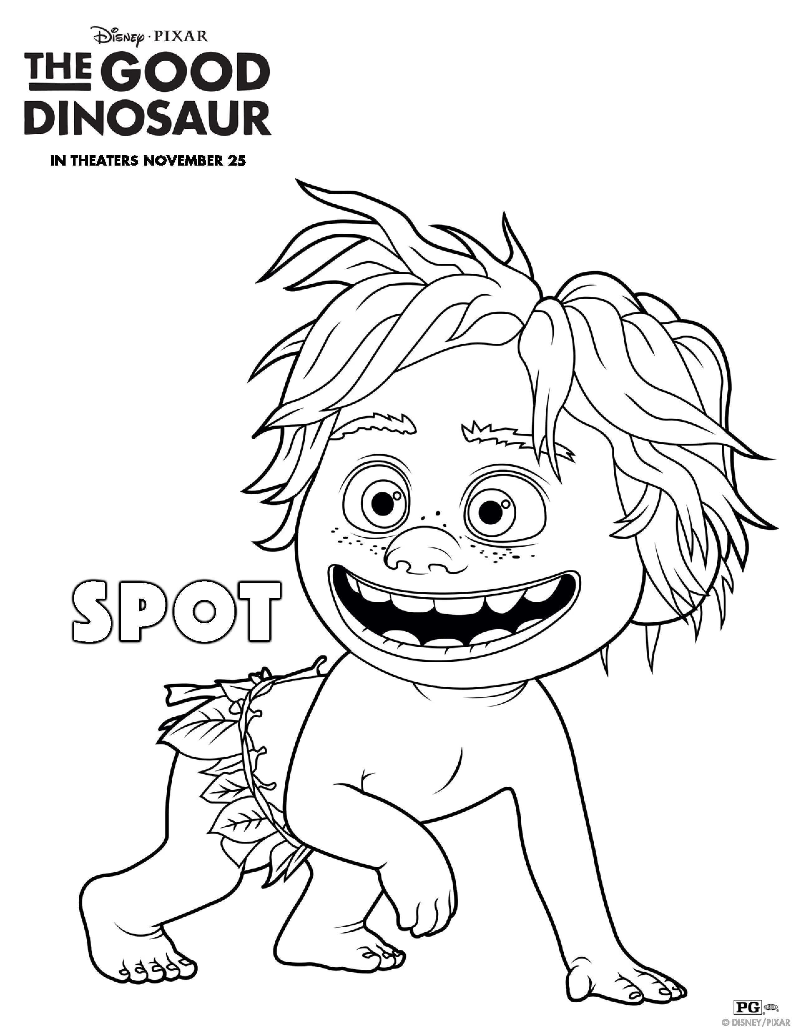The Good Dinosaur Kleurplaten Spot Kleurplaten Gratis Kleurplaten Dinosaurus