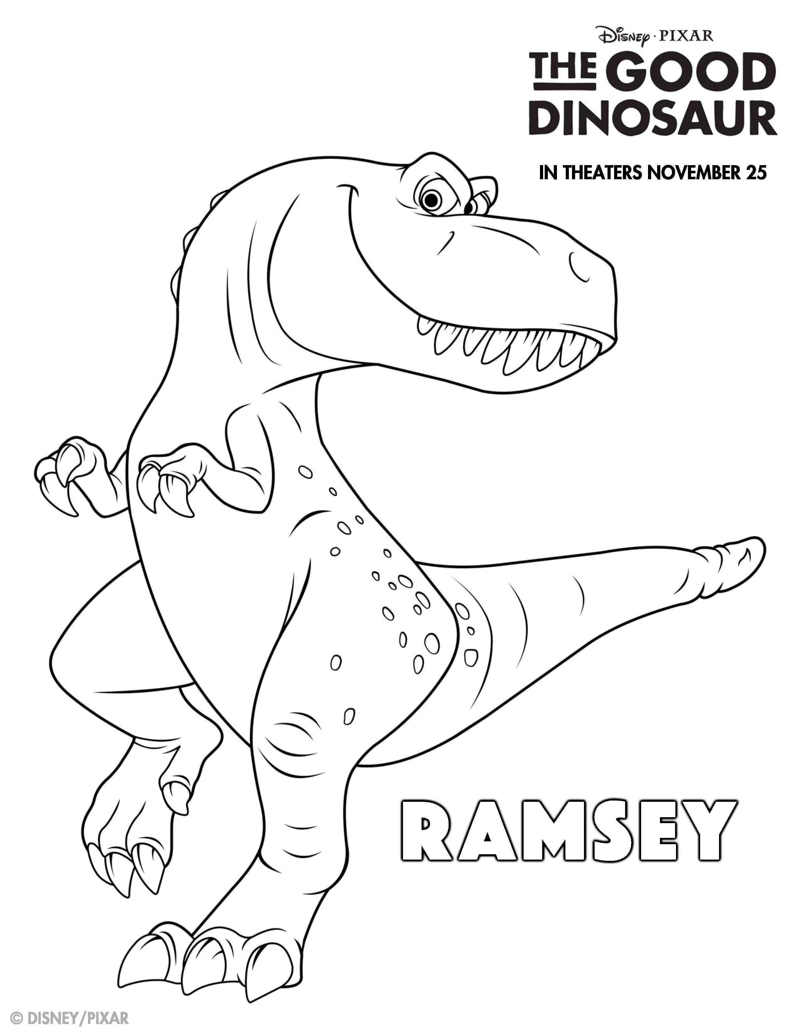The Good Dinosaur Kleurplaten Ramsey Kleurplaten Kinderkleurplaten Dinosaurus