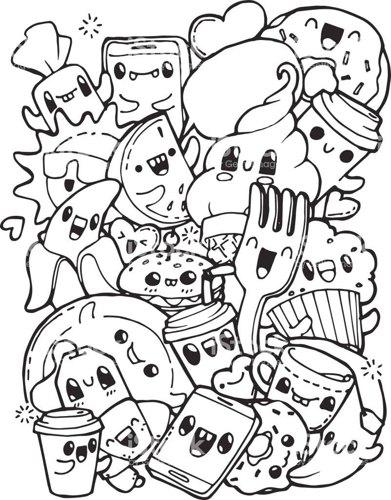 Tekenen Kawaii Food Google Zoeken Leuke Doodles Kawaii Tekeningen Bomen Tekenen