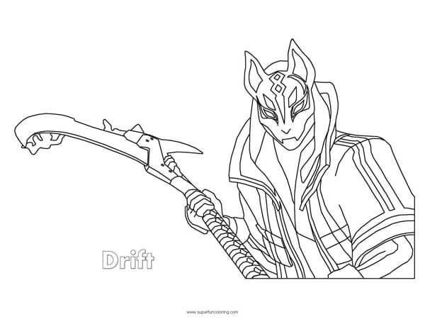 Fortnite Drift Coloring Page Coloring Pages Coloring Sheets Cool Coloring Pages