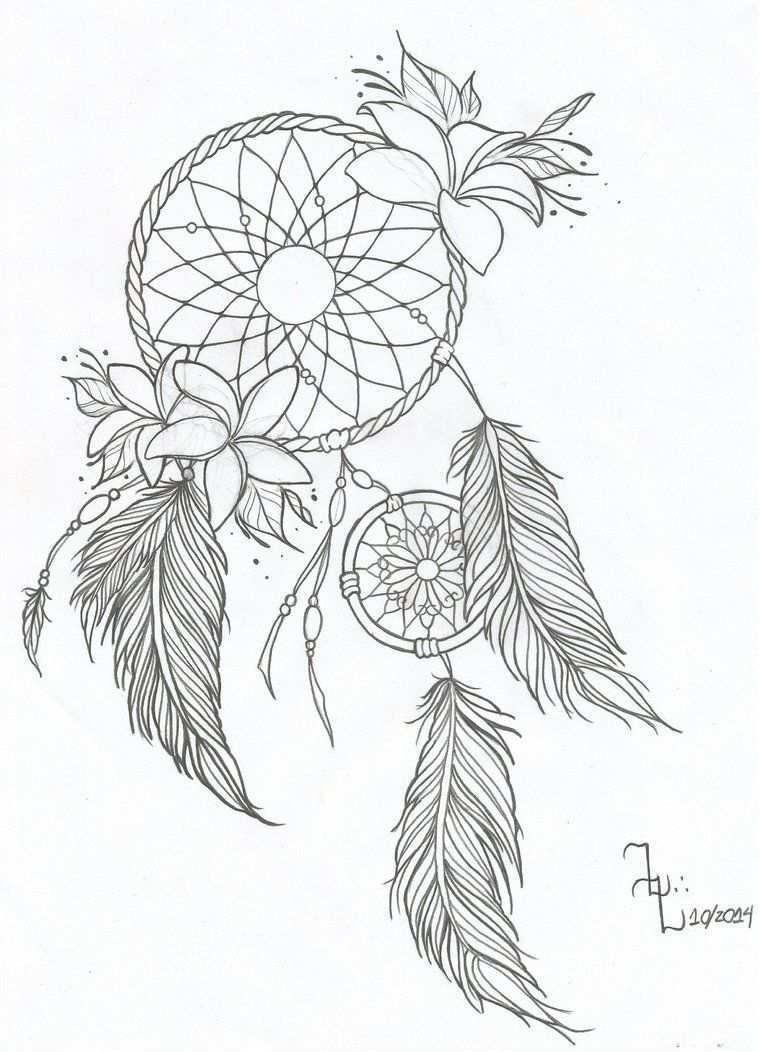 Dreamcatcher Idea Dream Catcher Drawing Tattoos For Kids Dream Catcher Tattoo Design