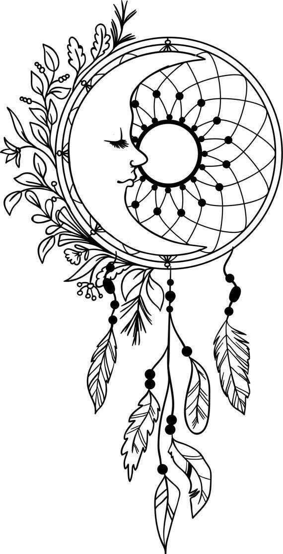 Beautiful Design It Would Be Amazing To Make A Cricut Project With Cricut Diy Vinyl Dreamcatch Mandala Kleurplaten Dromenvanger Kleurpotloodtekeningen