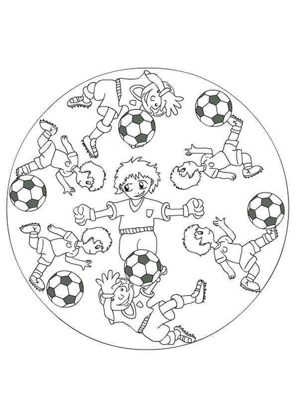 Kleurplaat Mandala Kleurplaten 5179 Kleurplaten Mandala Kleurplaten Voetbal Kinderkleurplaten