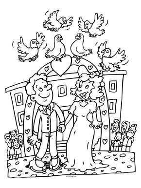 Kleurplaat Huwelijk Trouwen Duiven Kleurplaten Nl Knutselen Voor Trouwen Knutselen Bruiloft Knutselen Trouwen Ouders