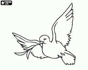 Vredesduif Een Witte Duif Is Een Traditioneel Christelijke En Joodse Symbool Voor De Liefde En Vrede Kleurplaa Vredesduif Kerstkleurplaten Flamingo Schilderij