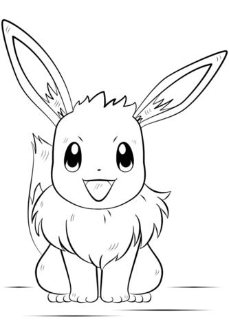 Eevee Pokemon Coloring Page Free Printable Coloring Pages Pokemon Para Colorir Pokemon Desenho Eevee Pokemon