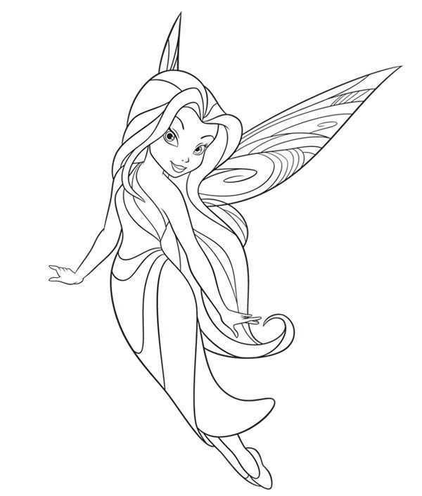 Kleurplaat Elfje Tinkerbell Fairy Coloring Pages Fairy Drawings Fairy Coloring