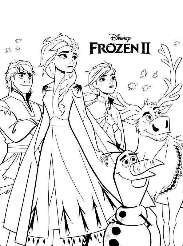 Kids N Fun Kleurplaat Frozen 2 Frozen 2 Prinses Kleurplaatjes Frozen Kleurplaten Kleurplaten