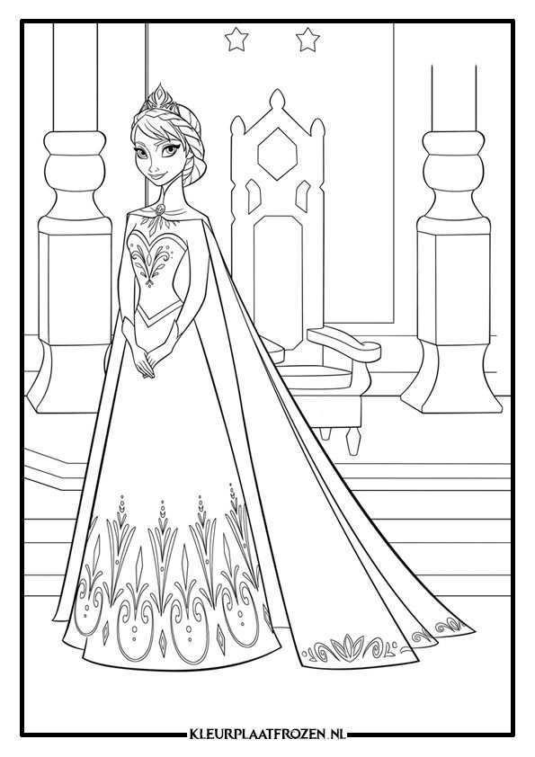 Elsa Kleurplaat Frozen Kleurplaten Disney Kleurplaten Frozen