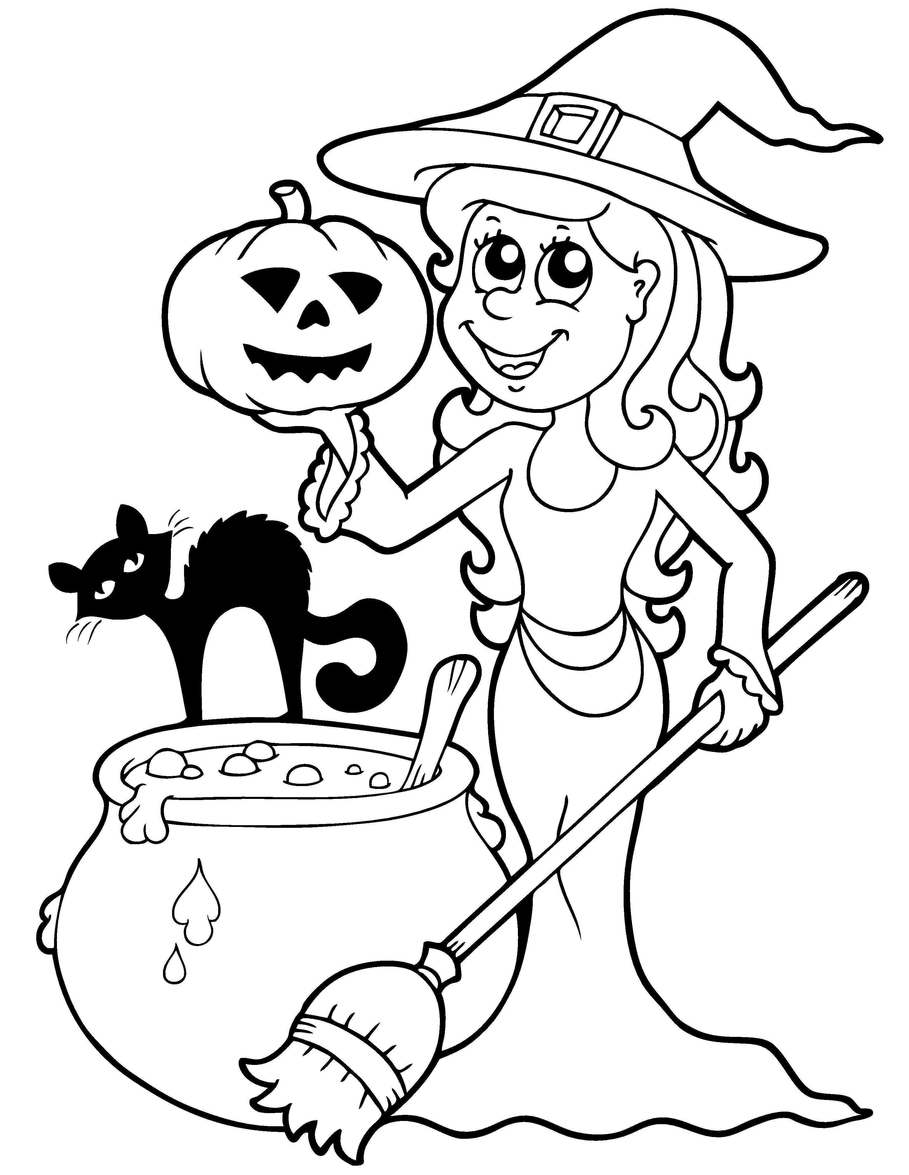 Een Leuke Kleurplaat Voor Halloween Kijk Op De Surfsleutel Voor De Printversie Halloween Tekeningen Knutselen Met Halloween Halloween Foto S