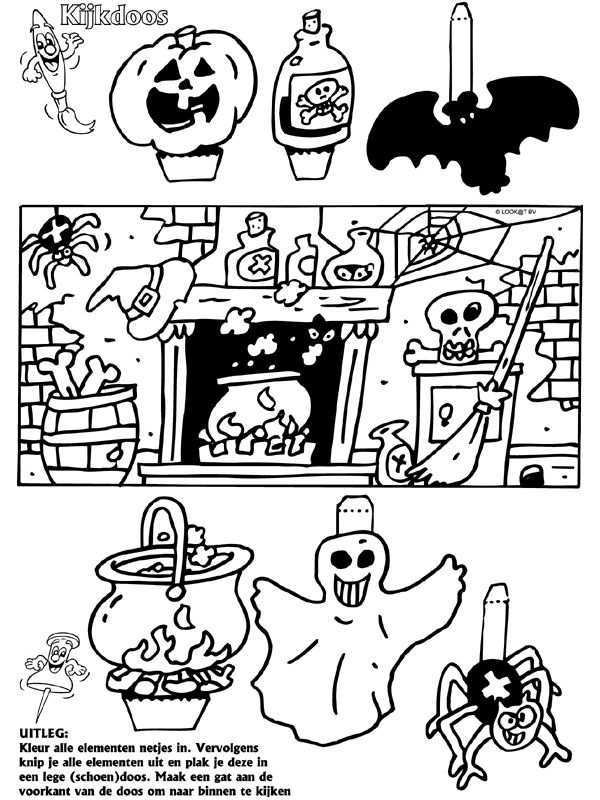 Halloween Kijkdoos Halloween Kind Knutselen Halloween Knutselen