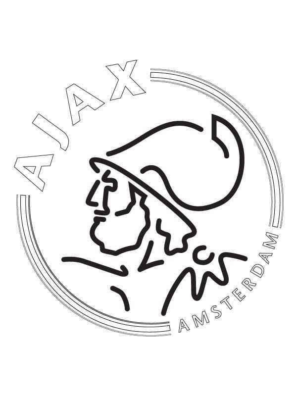 Kleurplaat Van Ajax Voetbal Tekenen Voetbal Knutselen Voetbal