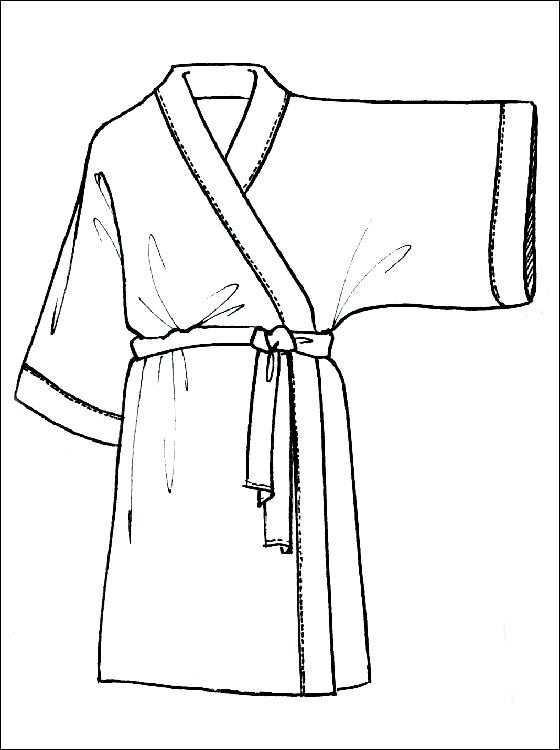 Kimono Kleurplaat Voor Print Gratis Kleurplaten Designerkleding Gratis Kleurplaten Illustratie Mode
