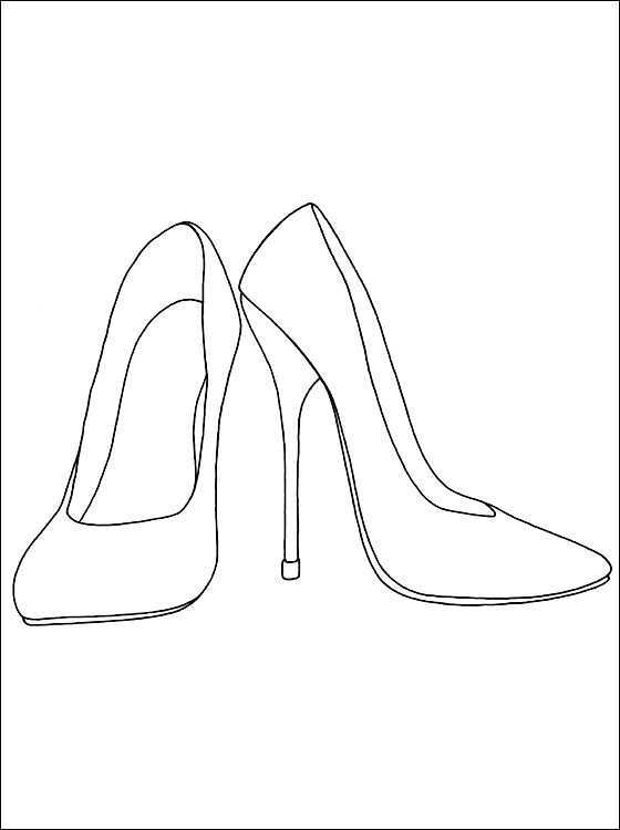 Heels Coloring And Printable Page Coloring Pages Shoe Design Sketches Shoes Drawing Fashion Design Drawings