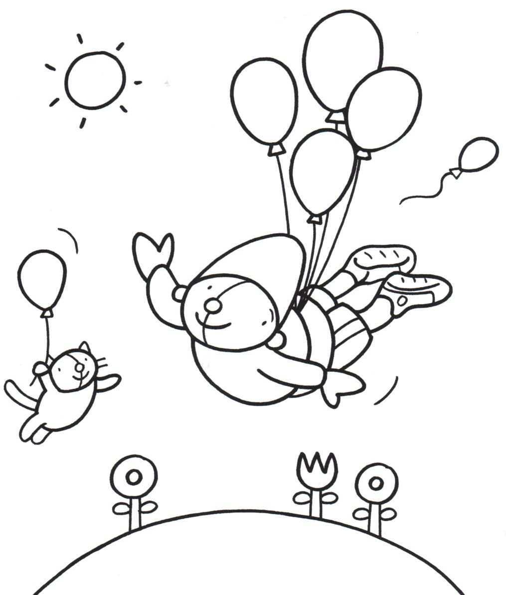 Kleurplaat Pompom Feest Kleurplaten Thema Verjaardagskalender
