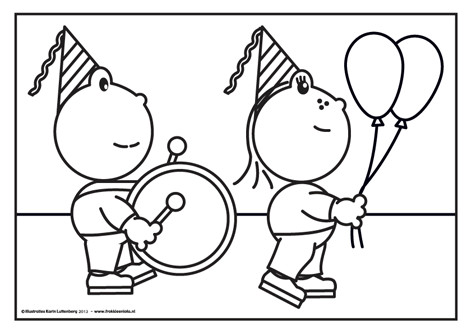 Frokkie En Lola Feestkleurplaten Kleurplaten Thema Ballonnen